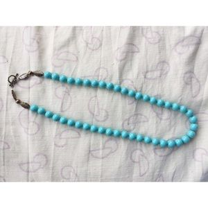 Vintage Glass Bead Necklace ~Turquoise~